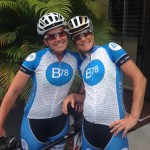 Coaches Steph and Christine in B78 cycling gear