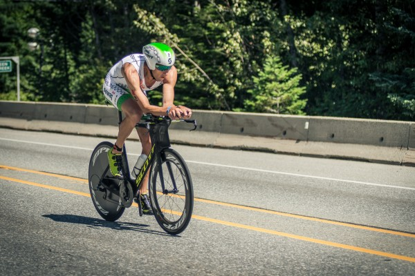 Cyclist at ironman canada 2014