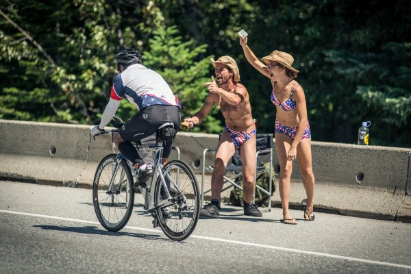 fun fans at ironman canada 2014