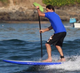 Brad Roark stand up paddle boarding