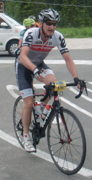 Tony taylor cycling on the pavement