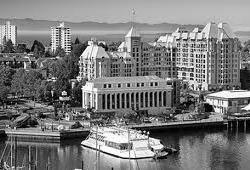 Ariel view of Hotel Grand Pacific in Victoria, BC