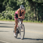 Christine Fletcher riding in Ironman Canada 2014
