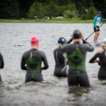 Swimmers getting ready at Ironman Canada Training Camp