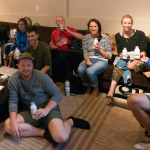 Group at Ironman Canada having a Rumble drink
