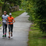 Richele, Tylar and Christine running in Whistler BC