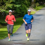 Jeremy and Louise running in Whistler, BC