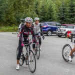 Laughing at Jasper Blake getting ready for a ride at ironman canada training camp 2013
