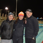 Jasper Blake, Christine Fletcher and Mike Neill all coaches at the Bermuda Triathlon training camp