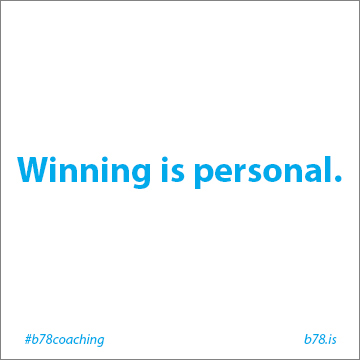 winning is personal