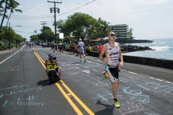 jeff symonds on the run in kona