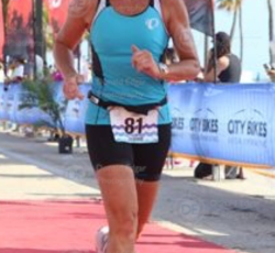 joanne glass ford running down the finishers chute